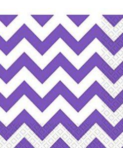 Purple Chevron Party Napkins