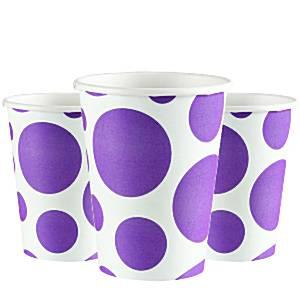Purple Dot Party Paper Cups