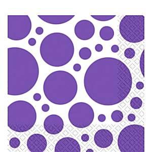 Purple Dot Party Napkins