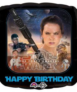 star wars the force awakens happy birthday balloon
