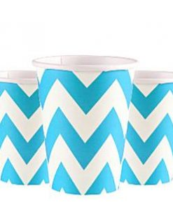 Turquoise Chevron Party Cups
