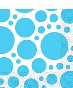 Turquoise Dot Party Napkins