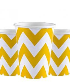 Yellow Chevron Party Cups