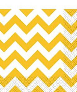 Yellow Chevron Party Napkins