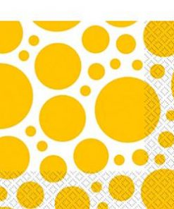Yellow Dot Party Napkins