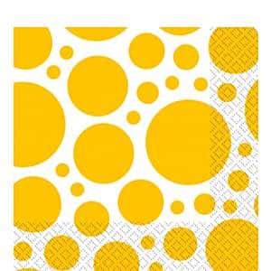 Yellow Dot Party Napkins
