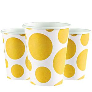 Yellow Dot Party Paper Cups