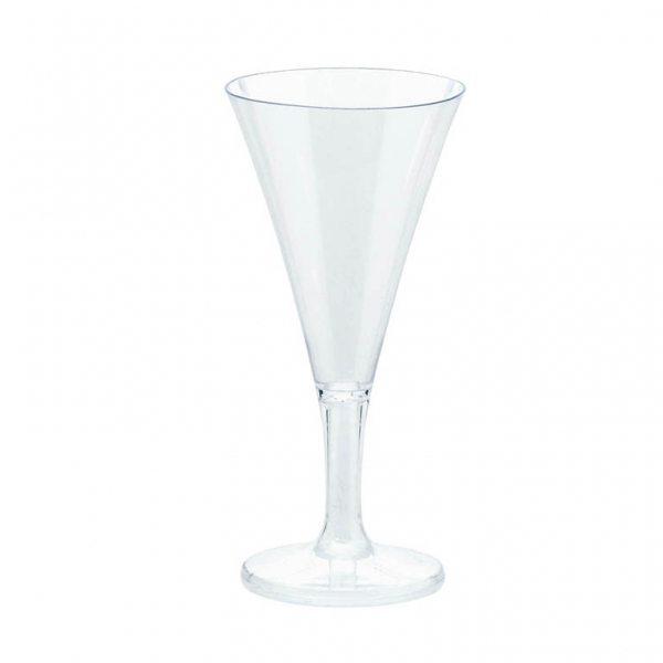 Clear Plastic Mini Champagne Flutes