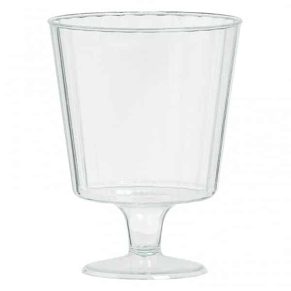 Clear Plastic Small Wine Glasses