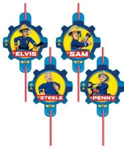 Fireman Sam Plastic Straws