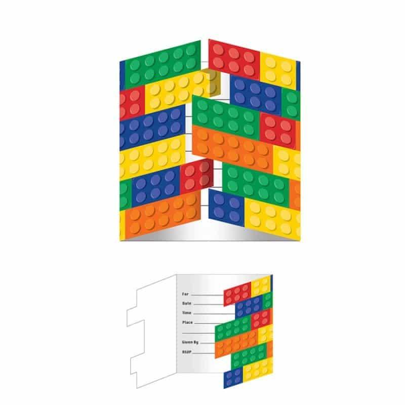 Block Party Lego Invitations