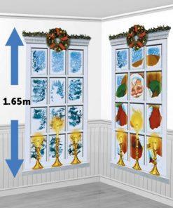 Christmas Frosted Window Scene Setter