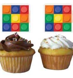 Lego Cupcake Picks