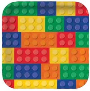 Lego Paper Plates  sc 1 st  Fun Party Supplies & Block Party Square Paper Plates - Fun Party Supplies