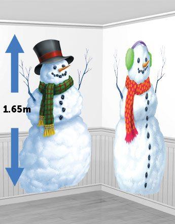 Christmas Snowmen Scene Setters