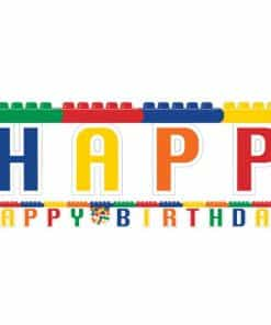 Block Party Happy Birthday Banner