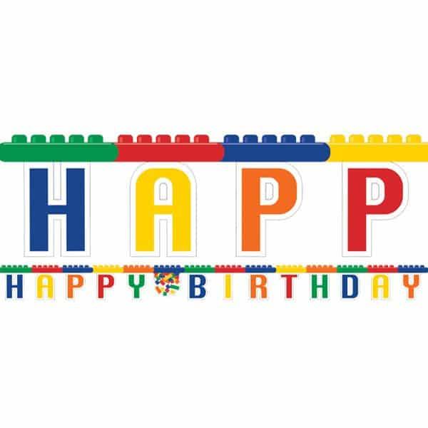 Block Party Happy Birthday Banner
