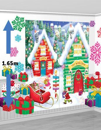 Santa's Workshop Scene Setter Kit