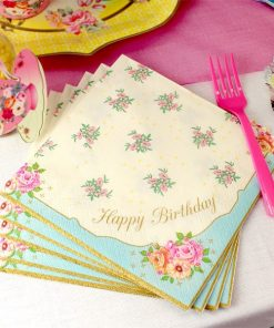 Truly Scrumptious Party Happy Birthday Paper Luncheon Napkins