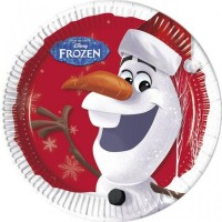 Olaf Christmas Party Plates