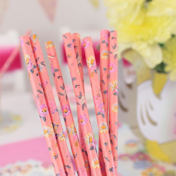 Truly Scrumptious Party Pink Paper Straws