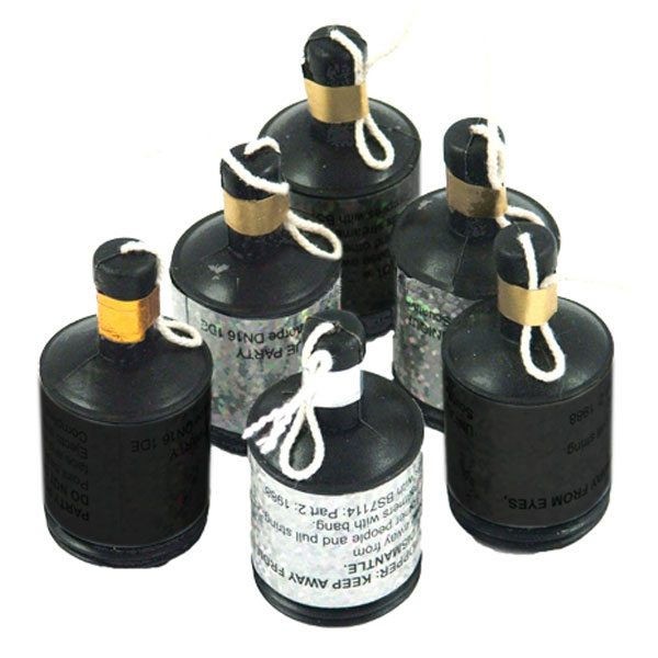 Black and Silver Party Poppers