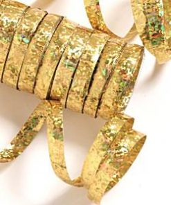 Gold Holographic Streamers