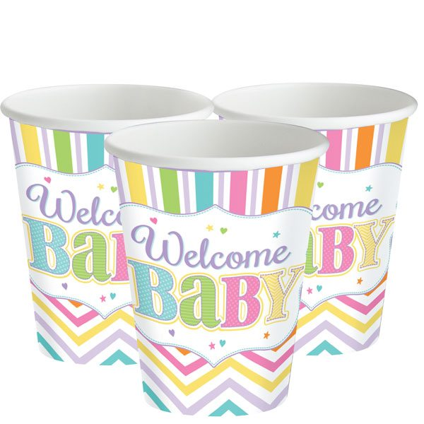Baby Bright Party Paper Cups
