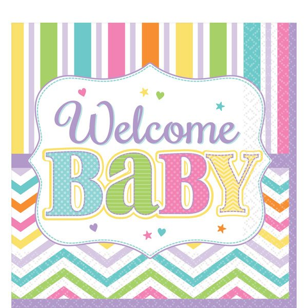 Baby Bright Party Paper Napkins
