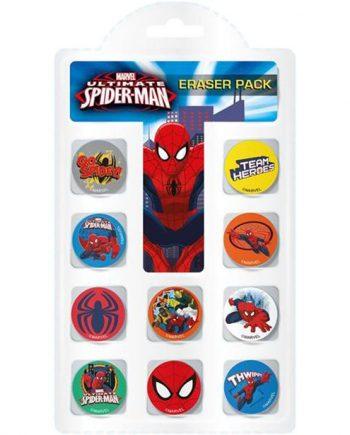 Spiderman Eraser Pack