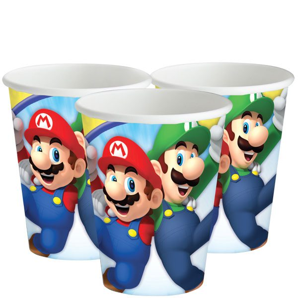Super Mario Party Paper Cups