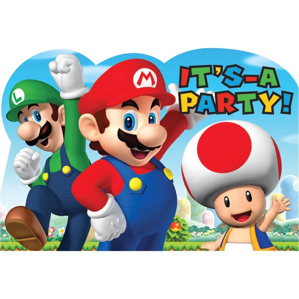 super mario party supplies - free delivery, Party invitations