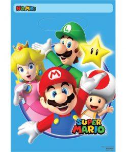 Super Mario Party Plastic Loot Bags