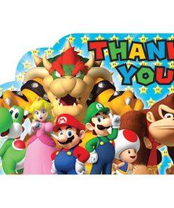 Super Mario Thank You Cards