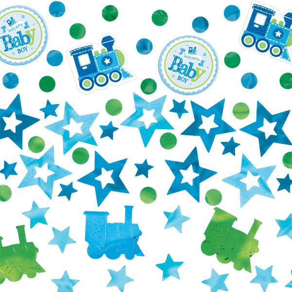 Welcome Baby Boy Party Table Confetti