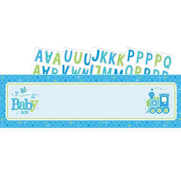 Welcome Baby Boy Party Giant Personalised Banner