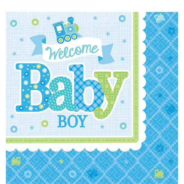 Welcome Baby Boy Napkins