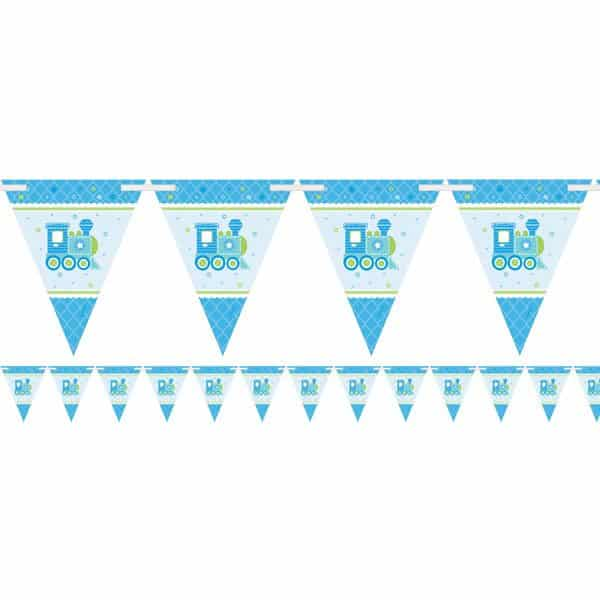 Welcome Baby Boy Paper Bunting