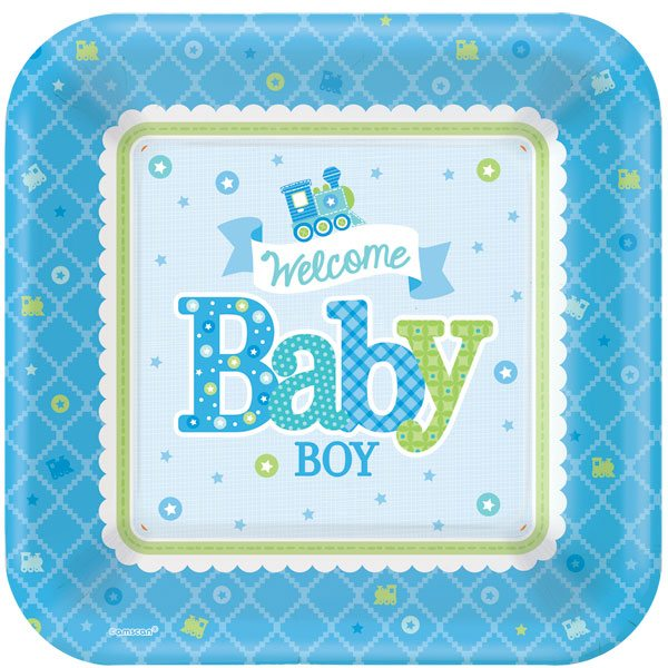 Welcome boy party baby shower fun party supplies for Baby welcome party decoration ideas