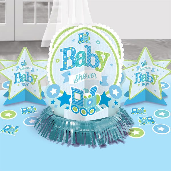 Welcome Baby Boy Party Table Decorating Kit