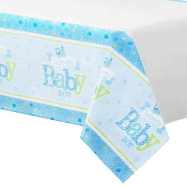 Welcome Baby Boy Party Paper Tablecover