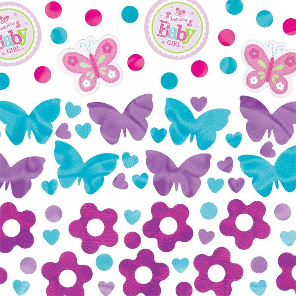 Welcome Baby Girl Party Table Confetti Pack