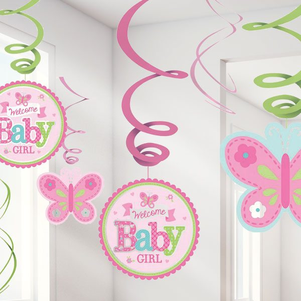 welcome baby girl party decorations fun party supplies