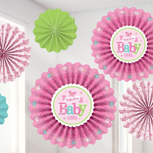 Welcome baby girl party decorations fun party supplies for Baby welcome party decoration ideas