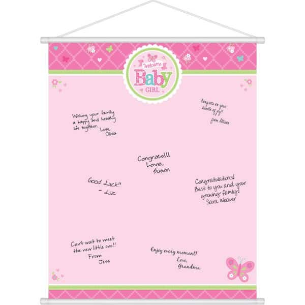 Welcome Baby Girl Sign In Sheet
