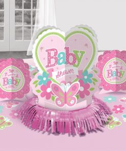 Welcome Baby Girl Party Table Decorating Kit
