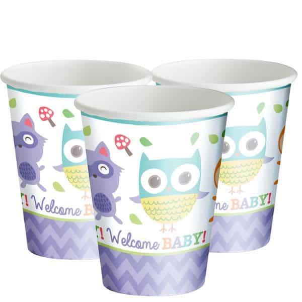 Woodland Baby Party Paper Cups