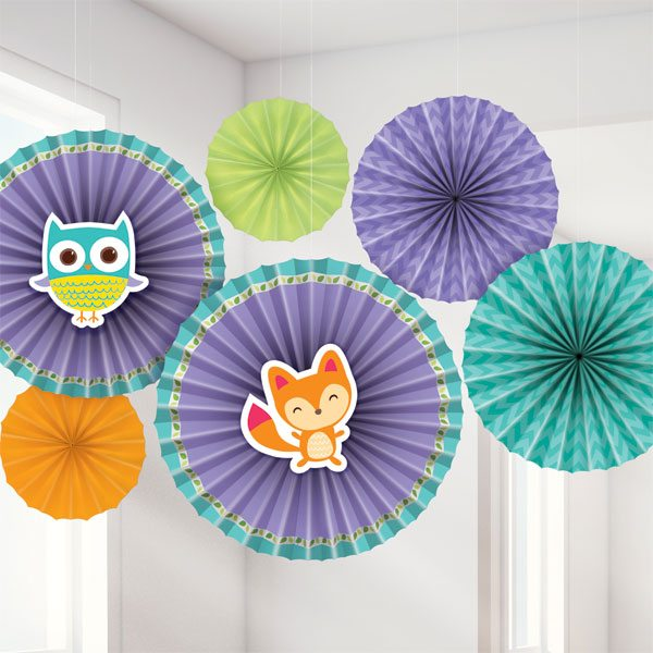 Woodland Baby Party Paper Fan Decoration