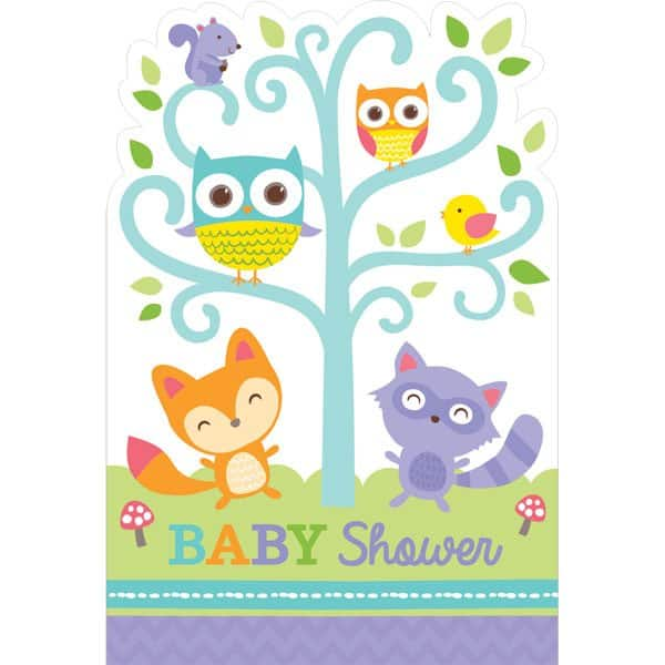 Woodland Baby Party Invites