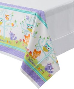 Woodland Baby Party Plastic Tablecover